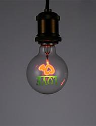 1pcs g80 amor e27 clásico vintage edison luz aerolux estilo chispeando bombilla luces de Navidad para casa ac220-240v