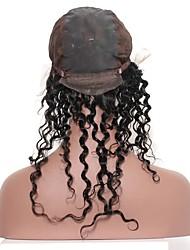 предварительно выщипывал 360 кружевных лобовых с крышкой парика горячие малайзийские виргинские волосы глубокая волна естественная линия
