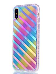 Назначение iPhone X iPhone 8 iPhone 8 Plus Чехлы панели Покрытие Сияние в темноте Задняя крышка Кейс для Полосы / волосы Мягкий