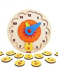 Набор для творчества Конструкторы Обучающая игрушка Пазлы Деревянные пазлы Игрушки Круглый Часы Мальчики Девочки Куски
