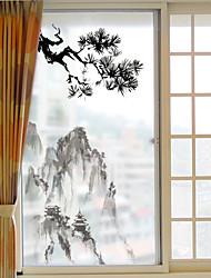 Ар-деко Стикер на окна,ПВХ/винил материал окно Украшение