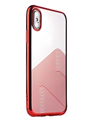 Назначение iPhone X iPhone 8 iPhone 8 Plus Чехлы панели Покрытие Полупрозрачный Задняя крышка Кейс для Полосы / волосы Мягкий Термопластик
