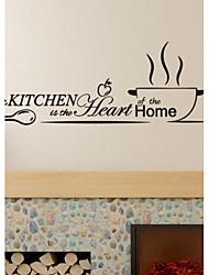Продукты питания Наклейки Простые наклейки Декоративные наклейки на стены материал Украшение дома Наклейка на стену