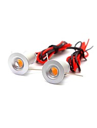 2pcs 1w mini led downlight spotlight branco quente / frio branco dc12v