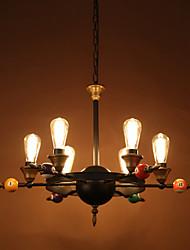 restaurant américain restauration de l'air façons anciennes lustre en fer forgé lampe droplight individualité créative salon lampe et