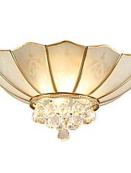 cristal absorbent la lumière du dôme toute la lampe en cuivre est contemporaine et contractée salon salle à manger lampe chambre lumière