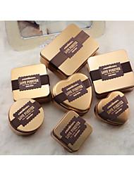 10 Шт./набор Фавор держатель-В форме сердца Никелированный металл Горшки и банки для конфет Подарочные коробки