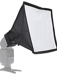 Andoer 20 * 30cm / 7.9 * 11.8in Portable Photography Flash Diffuser Mini Softbox Kit for DSLR Speedlite Flash