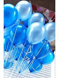 20 шт / комплект воздушные шары латекс 10-дюймовый сплошной цвет надувной круговой шар