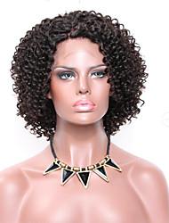 Femme Perruque Naturelles Dentelle Brésiliens Rémy Lace Front Sans Colle Lace Front Partie gratuite 150% Densité Coupe Carré Afro Perruque