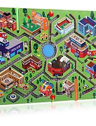 Grande labio labirinto magnético da cidade tráfego cidade cubo pai-criança jogos benefício inteligência brinquedo jj7701-0517
