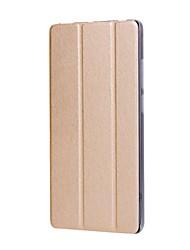 caja de cuero sólida de la PU del patrón de tres veces con el soporte para el mediapad t3 de huawei 7.0 PC de la tableta de la pulgada