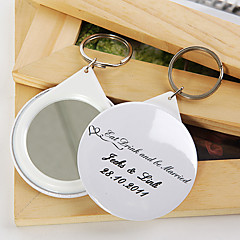 Personalized Mirror Key Ring - Eat Drink and be Married (set of 12)