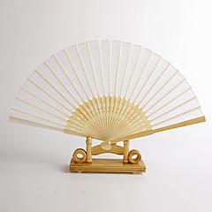 Seide Ventilatoren und Sonnenschirme-# Stück / Set Handfächer Garten Thema Klassisches Thema Weiß Griff 38cmx21cmx1cm 2.4cmx21cmx1cm
