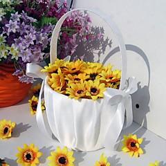 Blumenkorb Satin Schleife