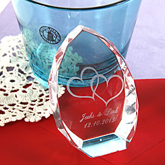 כלה הורים מתנות חתיכה / סט פריטי קריסטל זוהר מודרני יצירתי חתונה יום שנה חנוכת בית קריסטל מותאם אישית פריטי קריסטל קופסאת מתנה