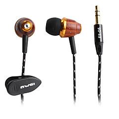 awei de style en bois écouteurs intra-auriculaires (marron)