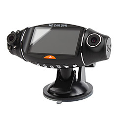 1280x480 2.7 Inch Display Car DVR with Dual Camera, Night Vision