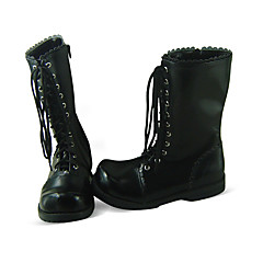 Lolita Shoes Sweet Lolita Lolita Flat Heel Shoes Solid 3 CM Black For Women PU Leather/Polyurethane Leather