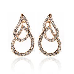 18K Gold Plated Clear Rhinestone & Crystal  Fashion Earrings