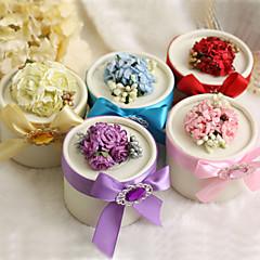 Runde für Boxen mit Blumen und Farbband - set of 12 (mehr Farben)