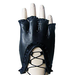 Wrist Length Half Finger Glove Leather Party/ Evening Gloves / Winter Gloves Spring