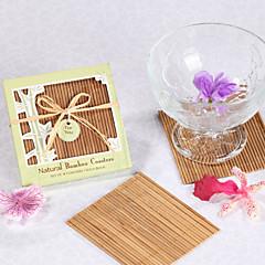 natuurlijke bamboe milieuvriendelijk coaster gunsten (set van 4)