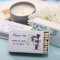 כרטיס מנייר קשה קישוטי חתונה-12Piece / סט מותאם אישית לא כולל גפרורים.