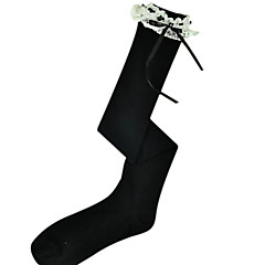 Ponožky a punčochy Klasická a tradiční lolita Lolita Lolita Černá Lolita Příslušenství Punčocháče Krajka Pro Dámské Bavlna