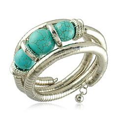 unika orm formade legering med turkosa kvinnors armband