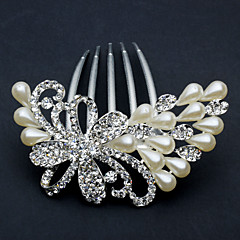 Women's Rhinestone Alloy Imitation Pearl Headpiece-Wedding Special Occasion Office & Career Hair Combs