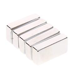 Magnetiske leker 5 Deler 20*10*5 MM Magnetiske leker Byggeklosser Super Strong Sjelne Jordarter Magneter Administrative LekerKubisk