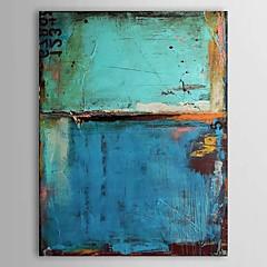 Kézzel festett Absztrakt Festmények,Klasszikus / Modern Egy elem Vászon Hang festett olajfestmény For lakberendezési