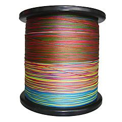 2000m / 2,200 יארד PE  / Dyneema חוט קלוע חוט דיג ירוק / כתום / צהוב / סגול / פוקסיה / אדום / כחול / מבחר צבעים8LB / 10LB / 20LB / 25LB /