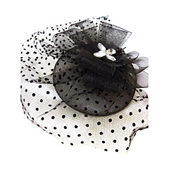 Women's Rhinestone / Net Headpiece-Special Occasion Fascinators As the Picture