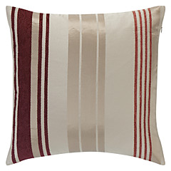 Stilfuld Rød Strip Polyester Dekorative Pillow Cover