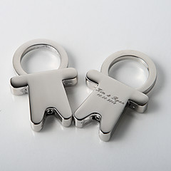 Zinc Legering Nyckelrings Favors-4 Piece / Set Nyckelband Classic Theme Personlig Silver