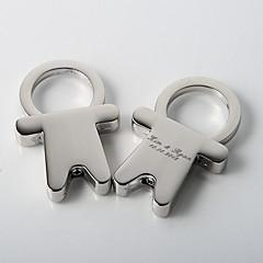 Liga de Zinco Favors Chaveiros-4 Piece / Set Chaveiros Tema Clássico Personalizado Prateado