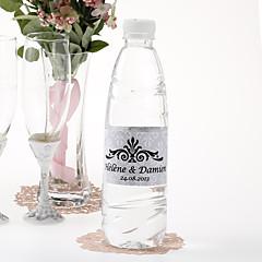 מדבקת בקבוק מים אישית - מלכותית (כסף / להגדיר מתוך 15)