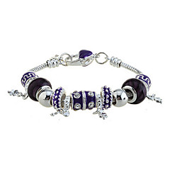 plata de la manera plateado con pulsera de perlas de varias