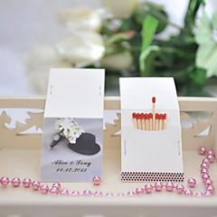 carte papier rigide dcorations de mariage 50piceset personnalis allumettes non incluses - Allumettes Personnalises Mariage