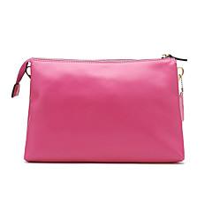 VUIASK Frauen Fuchsia Solid Color Cow Leather Shoulder Bag