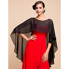 Elegant Chiffon Evening/Wedding Poncho (More Colors)