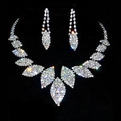 סט תכשיטים לנשים יום שנה / יום הולדת סטי תכשיטים סגסוגת / ריינסטון ריינסטון שרשראות / עגילים מוצג כתמונה
