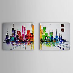 картина маслом абстрактный набор городской пейзаж 2 1307-ab0501 ручной росписью холст