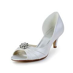 Women's Wedding Shoes Heels/Peep Toe Heels Wedding Red/Ivory/White