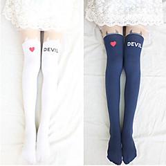 Sokken en kousen Schattig Lolita Lolita Zwart Wit Lolita-accessoires Kousen Print  Voor