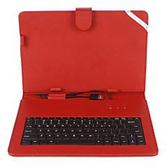 10 Inch Stripe Mesh Wzór PU Skórzany z klawiaturą USB i kandydowania