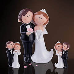 """Happy Bride&Groom"" Decorative Figurine(3 Pieces)"