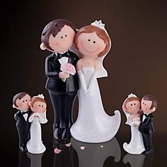Marié Groom Couple Parents Cadeaux Pièce / Set Décoration d'intérieur Amour Mariage Célébration Résine Non personnaliséeDécoration